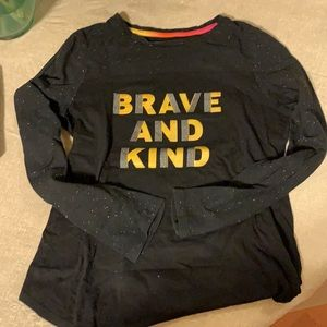 2/$7 brave and kind long sleeve top